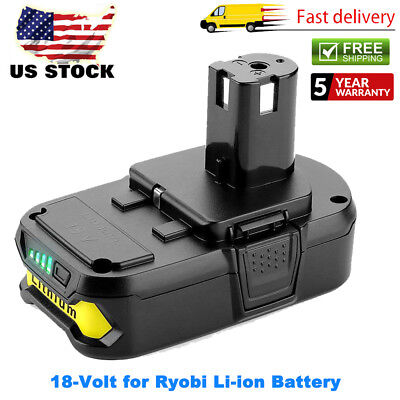 NEW FOR RYOBI P102 18 VOLT LITHIUM ION COMPACT BATTERY PACK 18V 2.0Ah ONE+ P104 18v Lithium Ion Compact