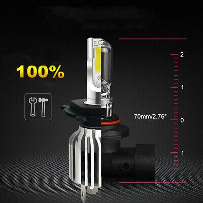 1 Pair 9003 H4 LED Headlight Bulbs Kit Upgrade High&Low Beam 80W 13200LM