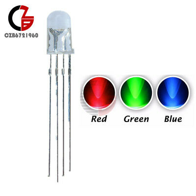 20pcs 4pin Rgb Tri-color Common Anode 5mm Led Light Red Green Blue