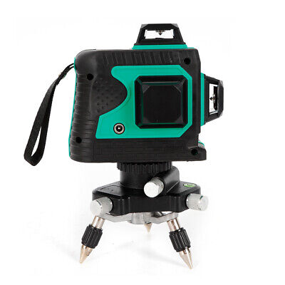 12 Lines Laser Beam Line 3d Rotary Level Self Leveling Lcd Cross Measure Tool