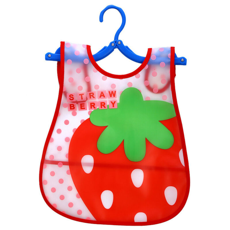 Newborn Cute Kids Bibs Baby Soft Cartoon Bib Toddler Waterproof Saliva Dripping I