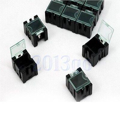 10lot 1 Mini Smd Smt Anti-static Electronic Boxes Black Components Storage Cg