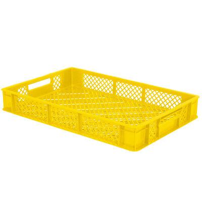 10x Eurobehälter / Stapelkorb, LxBxH 600 x 400 x 90 mm,15 Liter, gelb