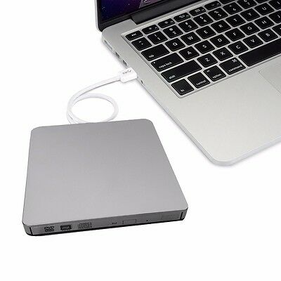 Extern CD DVD Brenner Laufwerk USB3.0 DVD±RW DVD RAM f. Apple Macbook Pro Air PC
