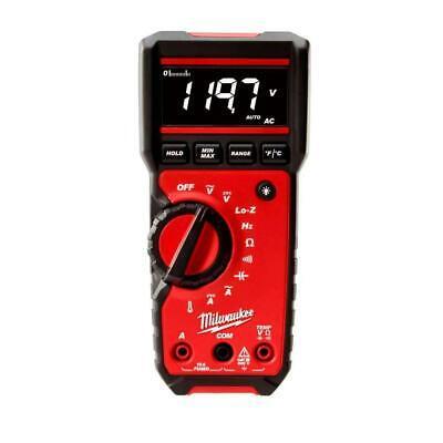Milwaukee Digital Multimeter Audible Alert Dual Voltage Integral Lead Storage