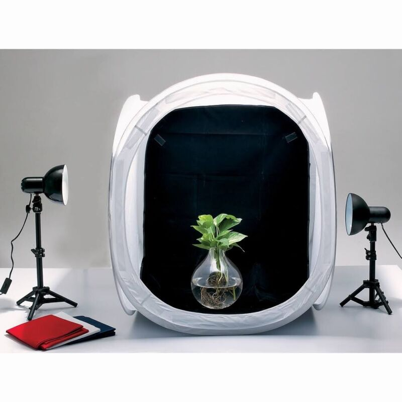 Promaster Studio Tabletop Light Cube Kit PRO 2031 24x24x24 Inches.