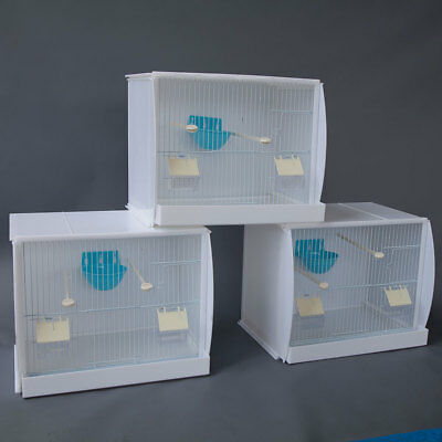 Finch Bird Nests - Lot of 3 Stackable Canary Finch Breeding Bird Cage with Nest Pan