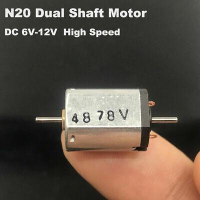 Mini N20 Dc 6V-12V Alta Velocidad Micro 10mm 12mm Motor Eléctrico Dual...
