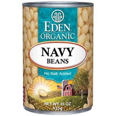 Eden Foods-Navy Beans (12-15 oz cans) Eden Organic Navy Beans
