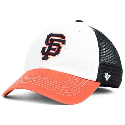 Giants Mlb Mesh (San Francisco Giants MLB Privateer 47 Mesh StretchFit Closer Baseball Cap Hat SF )