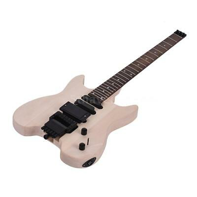 Unfinished DIY Electric Guitar Kit Basswood Body Rosewood Fi