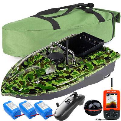 500M Wireless LED GPS Fishfinder With Fishing Bait Boat+Handbag+2 Spare Battery