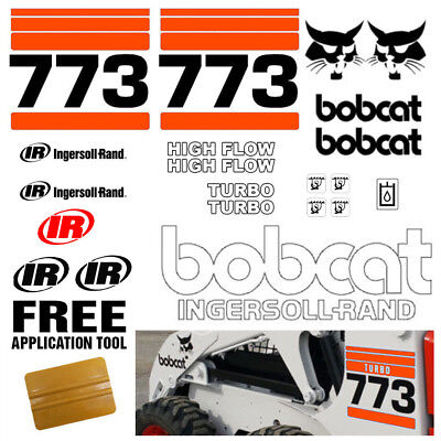 Bobcat 773 V2.1 Skid Steer 21pc Set Vinyl Decal Sticker Bob Cat Free Tool