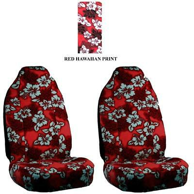 Deluxe Red Hawaiian Print High Back Seat Covers for SUV's, Cars and Trucks, Seat Covers Hawaiian Cover