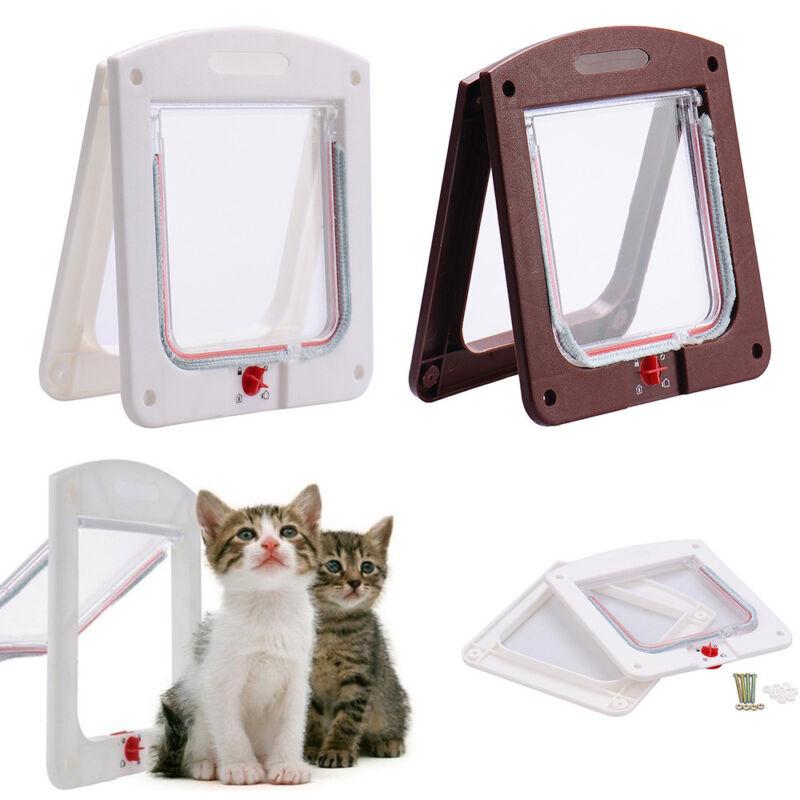 Pet door 4 way Lockable Small Medium Large Cat Puppy Flap Magnetic ...
