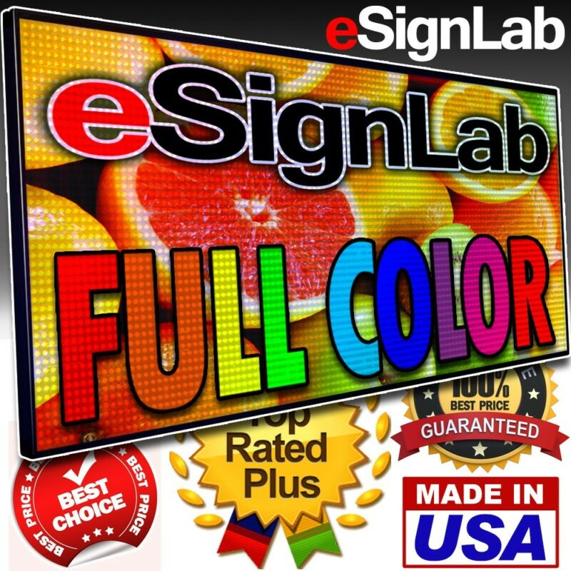 "Led Sign Full Color 28"" X 78"" Programmable Scrolling Outdoor Message Display"