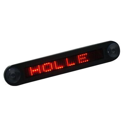 12v Car Mini Super Slim Led Programmable Message Sign Scrolling Display N9r3