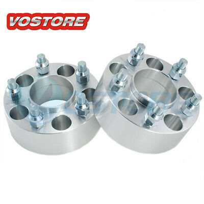 "(2) 2"" 5x4.75 Hubcentric Wheel Spacers Adapter for Chevy Camaro S10 Cadillac GMC"