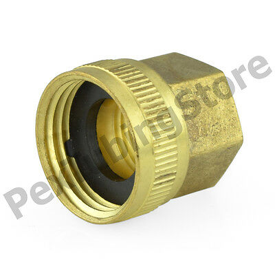 """3/4"""" Female Garden Hose x 1/2"""" FIP Threaded Swivel Brass Adapter Fitting"""