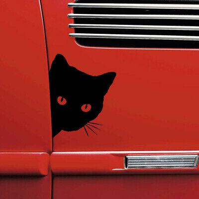 Black Peeking Cat For Car Bumper Window Wall Vinyl Decal Sticker