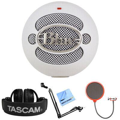 BLUE MICROPHONES Snowball USB Microphone w/ Tascam Headphone -