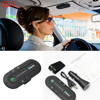 Wireless Bluetooth Handsfree Multipoint Speakerphone Speaker Car Kit Visor Clip