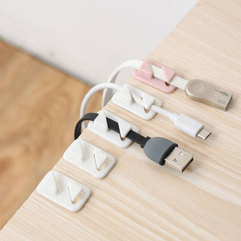 12pc//pack Viscosity Cable Winder USB Cable Organizer Wire Cord Management Holder