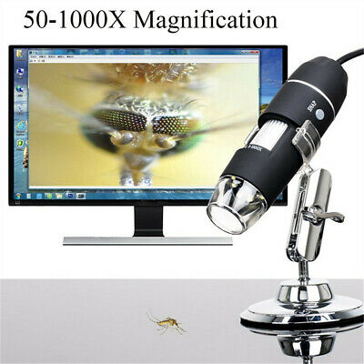 Usb Digital Microscope 50x-1000x Magnification 8-led Mini Microscope Endoscope