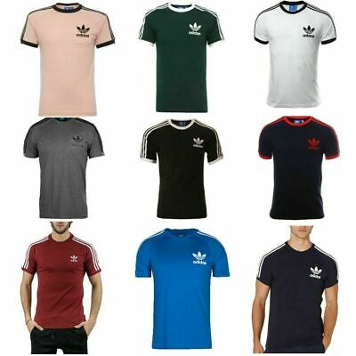 Adidas Originals Retro California Trefoil Short Sleeve Crew Neck Mens T-Shirt