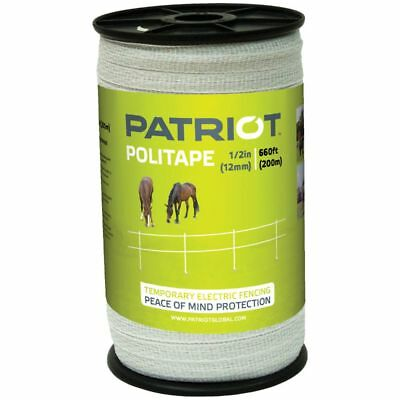 Patriot 821451 Politape 660 Ft Roll 12 Electric Fence Wire Horse Poly Tape