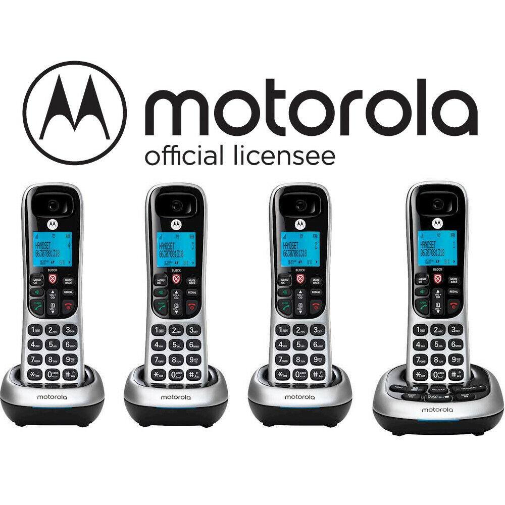 Motorola 4 Handset Cordless Phone System w/ Digital Answerin