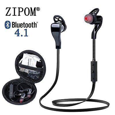 Bluetooth 4.1 Wireless Stereo Earphone Earbuds Sport Headset Headphone Black