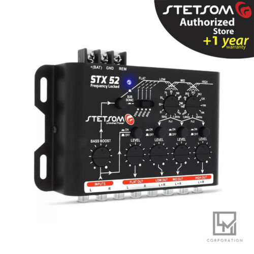 Stetsom STX52 Frequency Locked 4 Channels STX 52 Mono or Stereo 3 Day Delivery