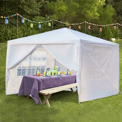 Heavy Duty Gazebo with Sides 3x3 M Waterproof Canopy Marquee Party Tent White UK