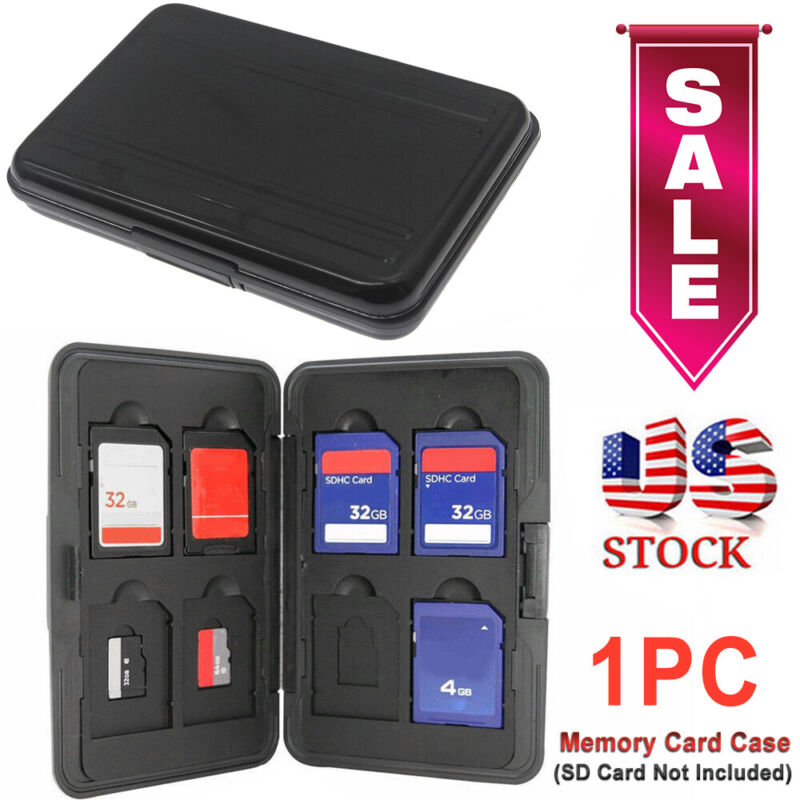 Aluminum Memory Card Wallet SD Case Protecter Storage Holder 16 Slots NEW