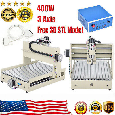 400w Cnc3040t 3-axis Tscrew Router Engraver Engraving Cutter Machine Woodworking