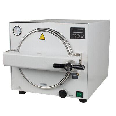 18l Dental Autoclave Steam Sterilizer Medical Sterilizition Pressure Gauge Safe