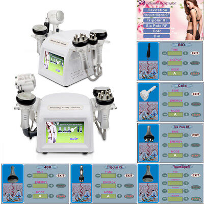 6in1 Rf Ultrasonic Cavitation Radio Frequency Vacuum Hotcold Slimming Machine