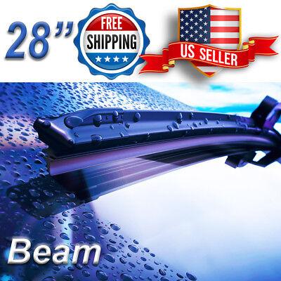 28 Inch Wiper Blades All Season Bracketless Windshield J-HOOK Beam Style ()