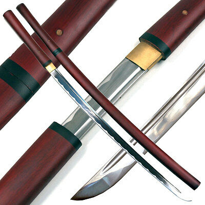 Handmade Japanese Shirasaya Samurai Katana Sharp Sword
