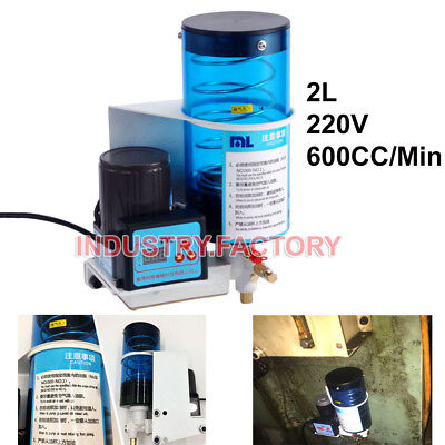 Grease Lubricating Oil Pump 2l 220v Electric Automatic Machine Punching Oil Pump