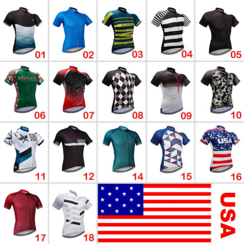 Men's Cycling Clothing Bicycle Jersey Sportswear Short Sleev