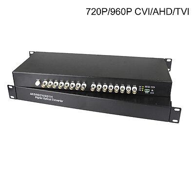 HD 960P CVI TVI AHD 16 Channels Video Fiber Optical Media Converters for CCTV