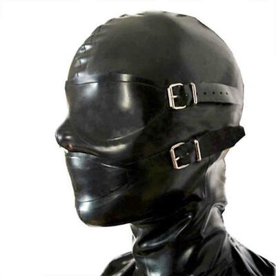 Passion Toys Latex Rubber Gummi Full Enclosure Hood Eyeshade Party Mask sex A](Passion Party Toys)