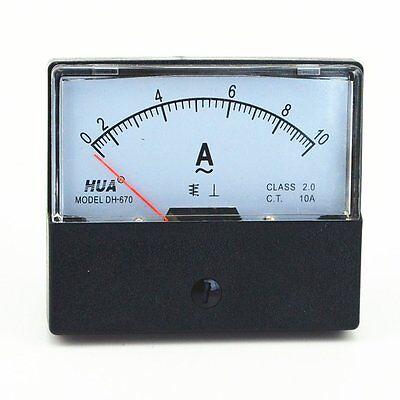 Ac 0-10a Analog Panel Meter Ammeter Gauge Dh-670