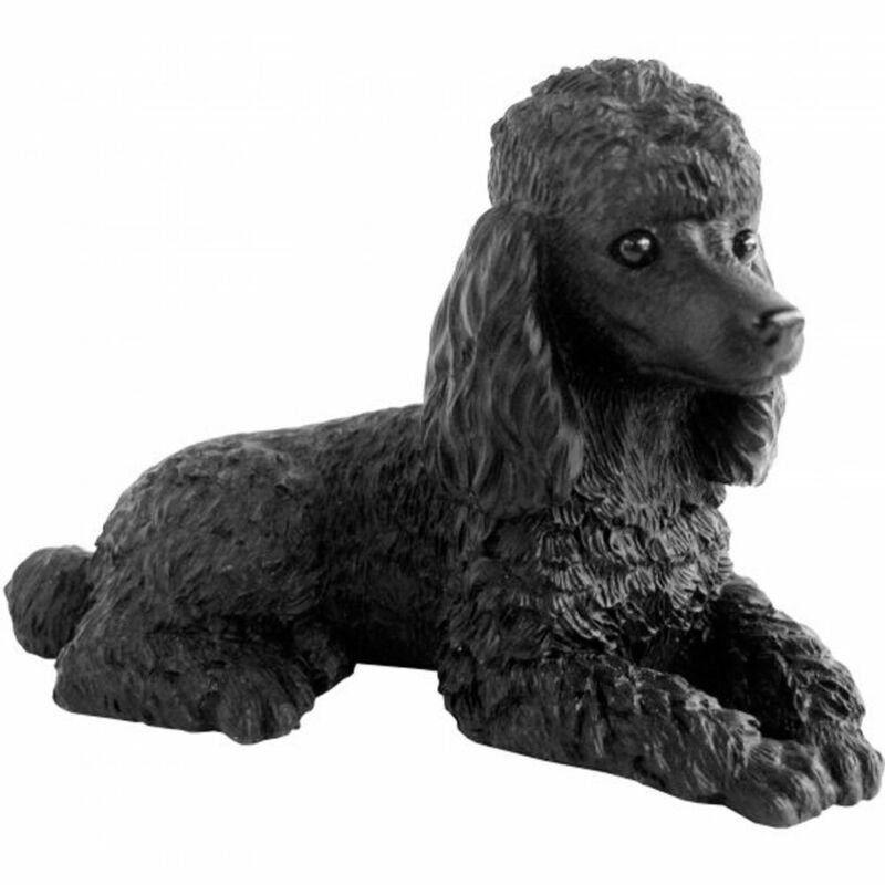 Poodle Figurine Hand Painted Black - Sandicast