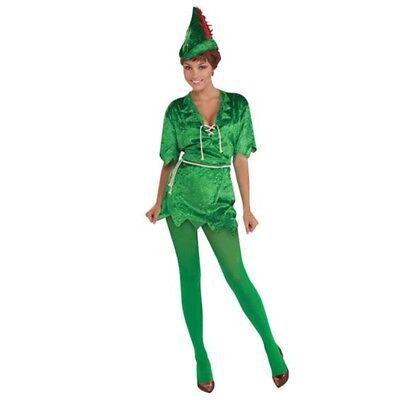 Peter Pan (female) - Dress Fancy Costume Ladies Outfit Elf Female Womens - Peter Pan Costume Female