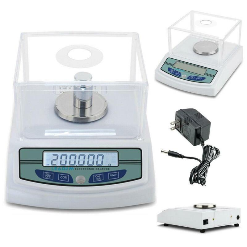 Rechargeable 300 x 0.001g 1mg Analytical Balance Digital Lab Scale Precision LCD