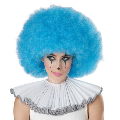 Adult Blue Jumbo Afro Wig for Clown Costume - Blue Clown Wig