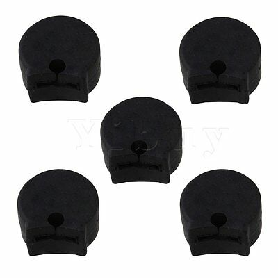 5PCS Comfort Black Rubber Clarinet Thumb Rest Cushion PROTECTOR